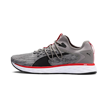 SPEED FUSEFIT Men's Running Shoes, Steel Gray-Red-Black, small-IND