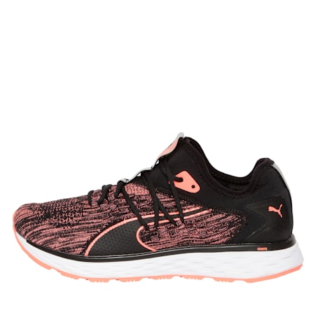 SPEED FUSEFIT Women's Running Shoes, Puma Black-Fluo Peach, small-IND