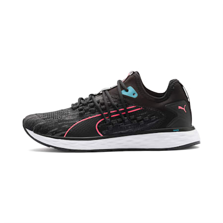 SPEED 600 FUSEFIT Women's Running Shoes, Puma Black-Milky Blue, small