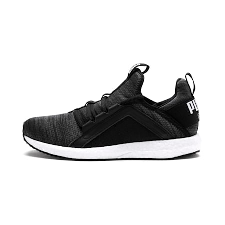 Mega Energy Heather Knit Kids' Running Shoes, Iron Gate-Black-White, small-IND