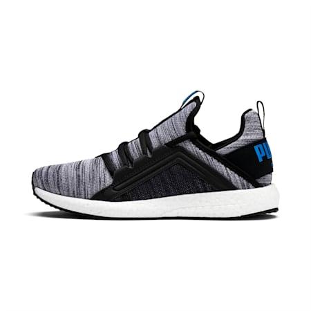 Mega Energy Heather Knit Kids' Running Shoes, Black-White-Indigo Bunting, small-IND