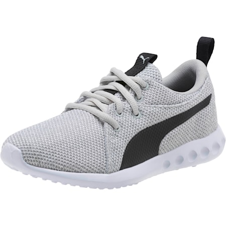 Carson 2 Bold Knit Youth Trainers, Gray Violet-Puma Black, small