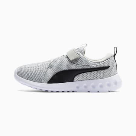 Carson 2 Bold Knit V Kids Sneaker, Gray Violet-Puma Black, small