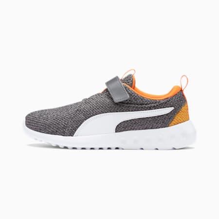 Carson 2 Bold Knit V Kids Sneaker, CASTLEROCK-Puma White, small