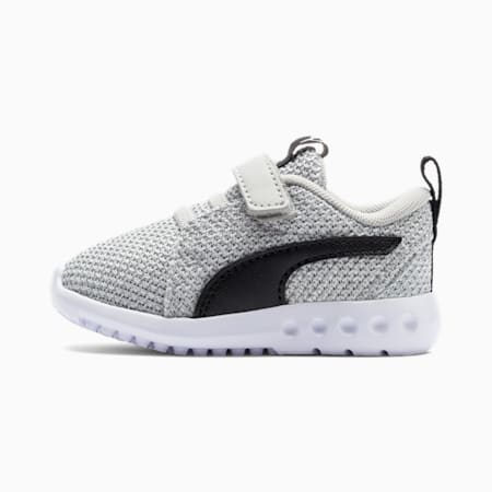 Carson 2 Bold Knit Babies' Trainers, Gray Violet-Puma Black, small