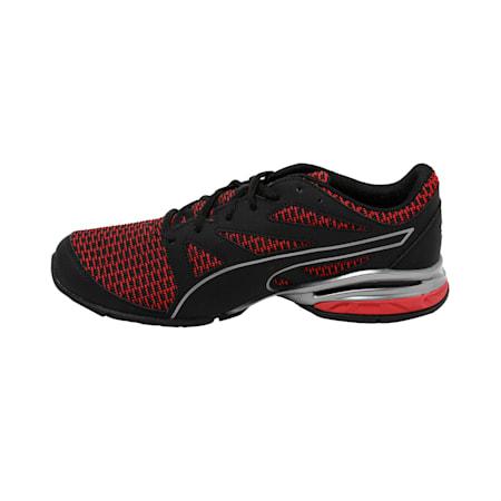 Tazon Modern Two Tone Puma Black-Ribbon, Black-Ribbon Red-Aged Silver, small-IND