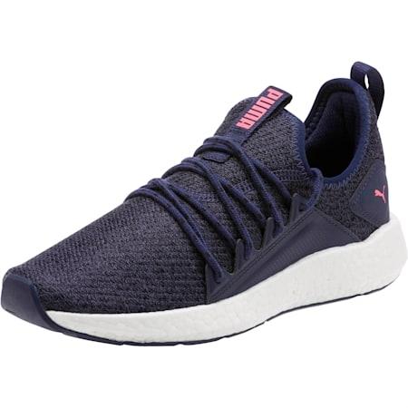 Zapatos para correr NRGY Neko Knit para mujer, Peacoat-KNOCKOUT PINK, pequeño