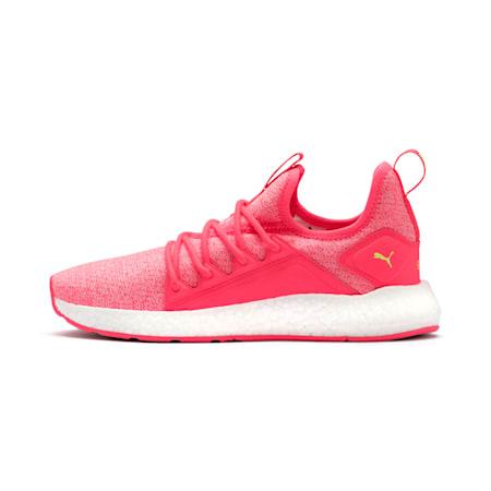 NRGY Neko Knit Women's Running Shoes, Pink Alert-Puma White, small