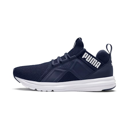 Enzo Weave Running Shoes, Peacoat-Puma White, small-IND