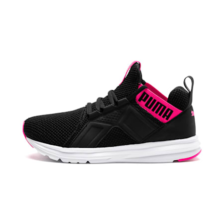 Enzo Weave Women's Sneakers, Puma Black-SHOCKING PINK, small