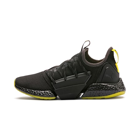 Hybrid Rocket Runner Men's Running Shoes, Asphalt-Black-Blazing Yellow, small-SEA