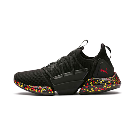 Hybrid Rocket Runner Men's Running Shoes, Black-Blazing Yellow-Red, small-SEA