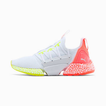 Zapatos para correr HYBRID Rocket Runner para mujer, Puma White-High Risk Red, pequeño