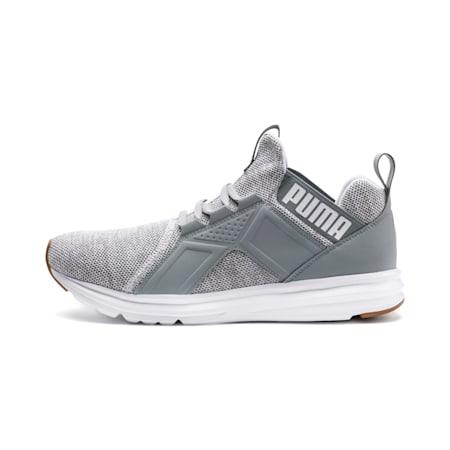 Enzo Knit Herren Sneaker, Puma White-Quarry, small