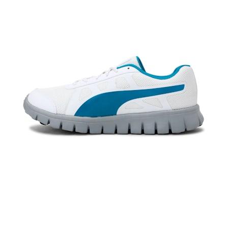 PUMA Blur V1 IDP Running Shoes, White-HawaiianOcean-Quarry, small-IND