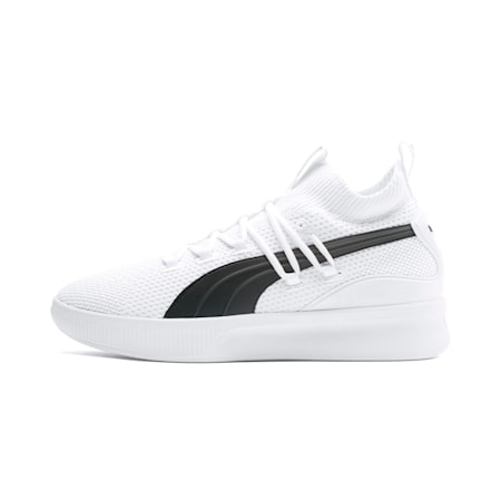Clyde Court Basketball Shoes, Puma White, small