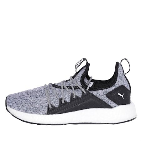 NRGY Neko Knitted Youth Shoes, Puma Black-Puma White, small-IND