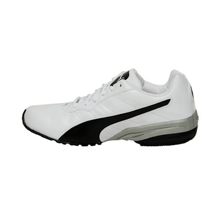Jago Comfort v2 Men's Running Shoes, Puma White-Puma Black-Silver, small-IND