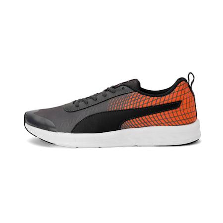 Supernal NU 2 IDP Men's Running Shoe, Asphalt-Orange Pop-Black, small-IND