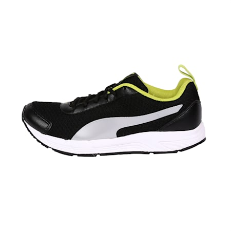 Electrica IDP Running Shoe, Puma Black-Silver-Limepunch, small-IND