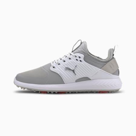 Caged IGNITE PROADAPT Men's Golf Shoes, High Rise-Puma Silver-White, small