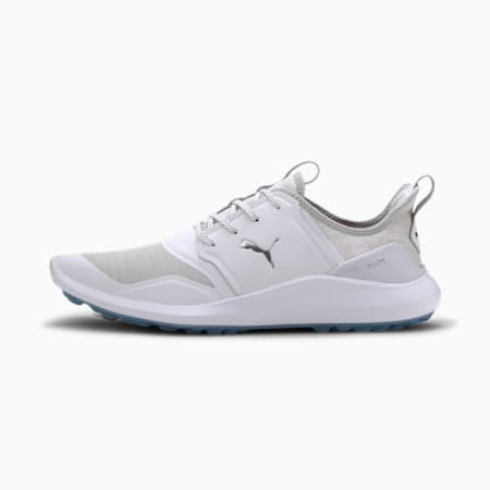 IGNITE NXT Lace-golfsko til mænd, White-Silver-High Rise, small