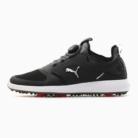 Obszyte męskie buty golfowe Caged IGNITE PROADAPT, Black-Puma Silver-Black, small