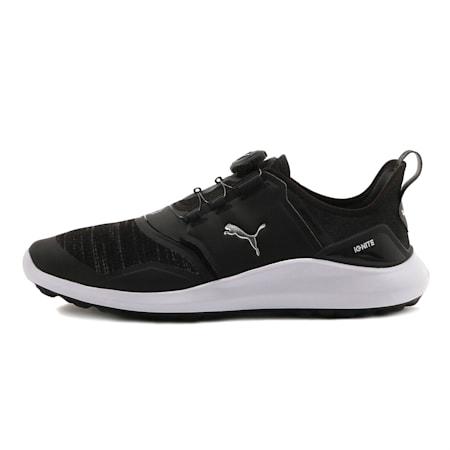 IGNITE NXT DISC Men's Golf Shoes, Puma Black-Puma Silver-White, small-SEA