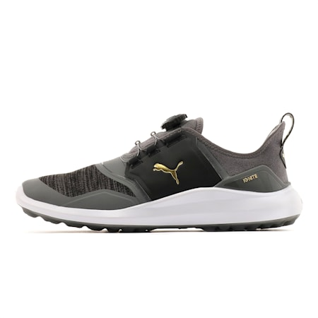 IGNITE NXT DISC Men's Golf Shoes, QUIET SHADE-Team Gold-Black, small-SEA