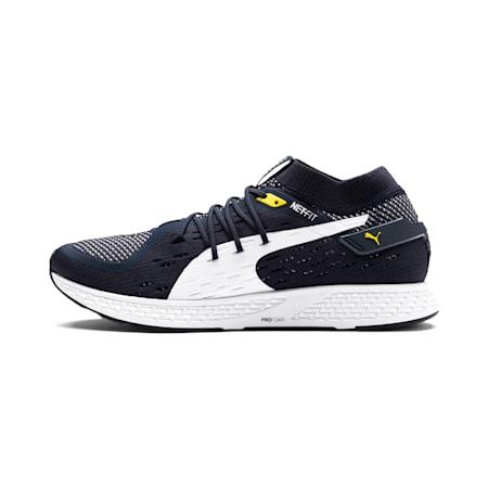 Speed 500 Men's Running Shoes, Peacoat-White-Blazing Yellow, small-SEA