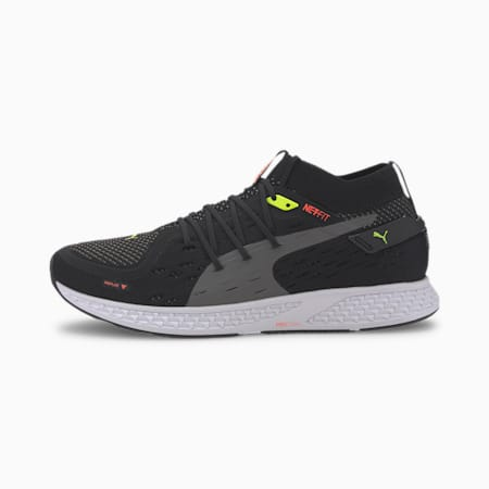 SPEED 500 Men's Running Shoes, Black-Lava Blast-CASTLEROCK, small
