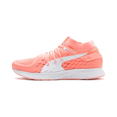 Speed 500 Women's Running Shoes, Bright Peach-Puma White, small-SEA