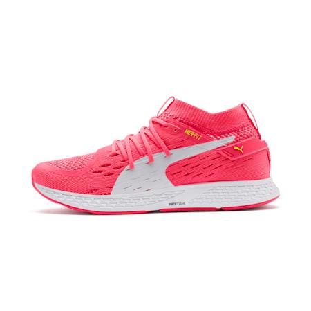 Speed 500 Women's Running Shoes, Pink Alert-White-Yellow, small-SEA