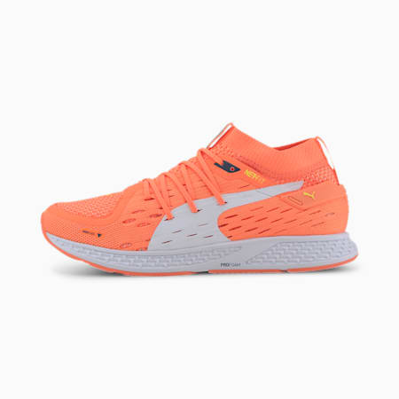 SPEED 500 Women's Running Shoes, Orange-Dark Denim-White, small