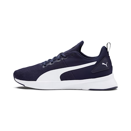 Flyer Running Shoes, Peacoat-Puma White, small