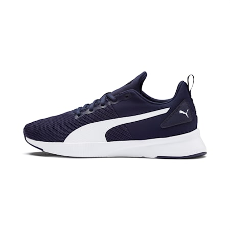 Flyer Running Shoes, Peacoat-Puma White, small-IND
