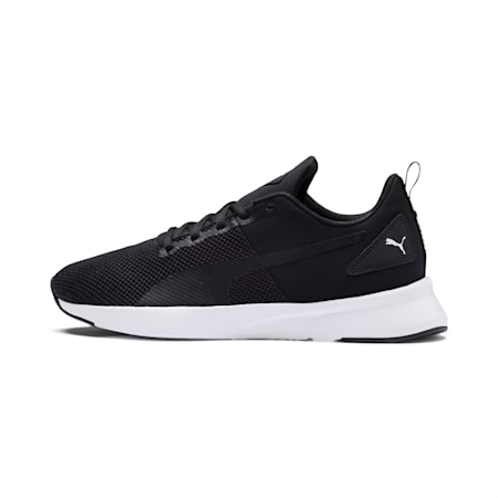 Flyer Running Shoes, Black-Black-White, small-IND