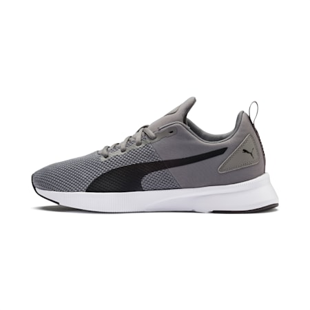 Flyer Running Shoes, Charcoal Gray-Puma Black, small-IND