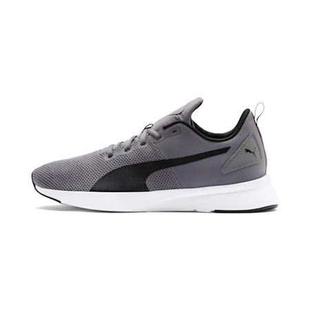 Flyer Running Shoes, Charcoal-Black-Turquoise, small