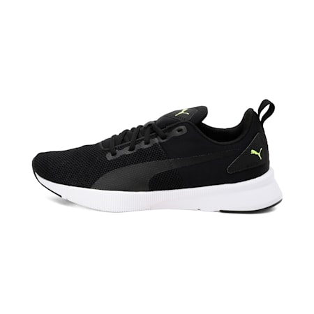Flyer Runner SoftFoam+ Unisex Running Shoes, Puma Black-Nrgy Red-Yellow Alert, small-IND