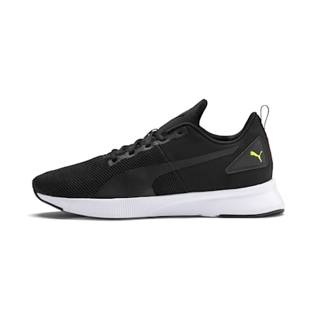 Flyer Running Shoes, Black-Nrgy Red-Yellow Alert, small-IND