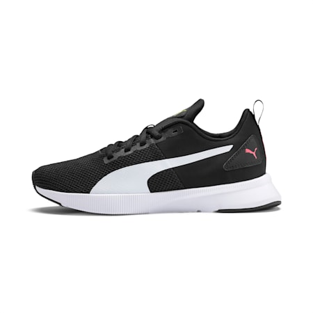 Flyer Running Shoes, Puma Black-White-Pink Alert, small