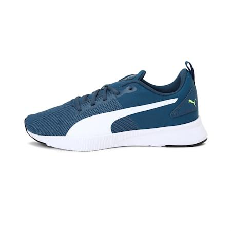 Flyer Runner SoftFoam+ Unisex Running Shoes, Dark Denim-Yellow Alert-Puma White, small-IND