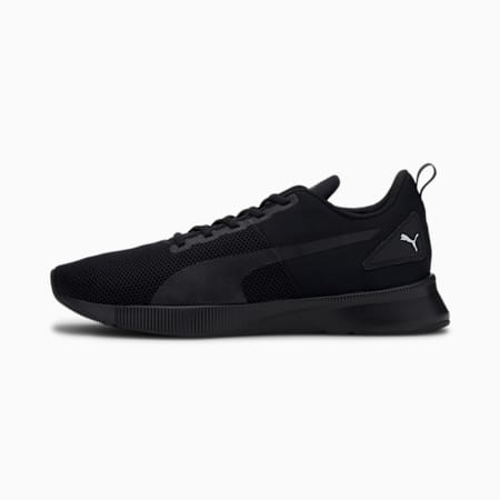 Flyer Running Shoes, Puma Black-High Risk Red, small