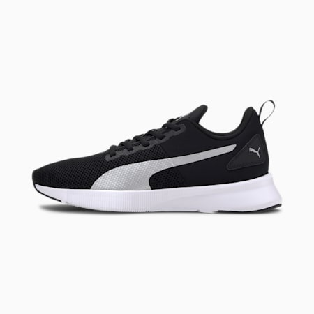 Flyer Running Shoes, Puma Black-Metallic Silver, small-IND