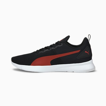 Flyer Runner SoftFoam+ Unisex Running Shoes, Puma Black-High Risk Red-Puma White, small-IND