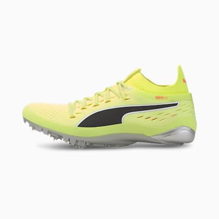 evoSPEED NETFIT Sprint 2 Spike Shoes, Fizzy Yellow-Black-Peach, small-SEA