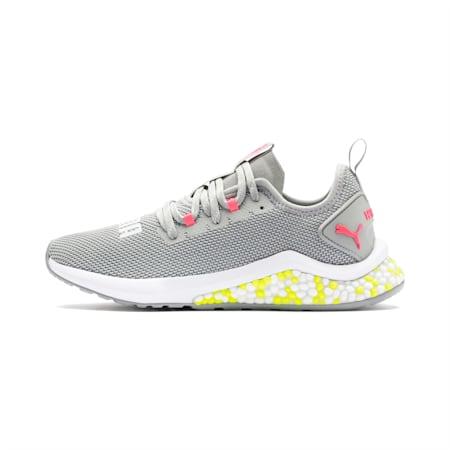 HYBRID NX Women's Running Shoes, Quarry-PinkAlert-YellowAlert, small