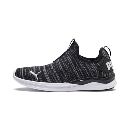 IGNITE Flash Slip Women's Walking Shoes, Black-Asphalt-White, small-IND