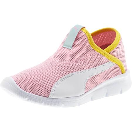 Bao 3 Sock Little Kids' Shoes, Pale Pink-White-Blazi Yellow, small